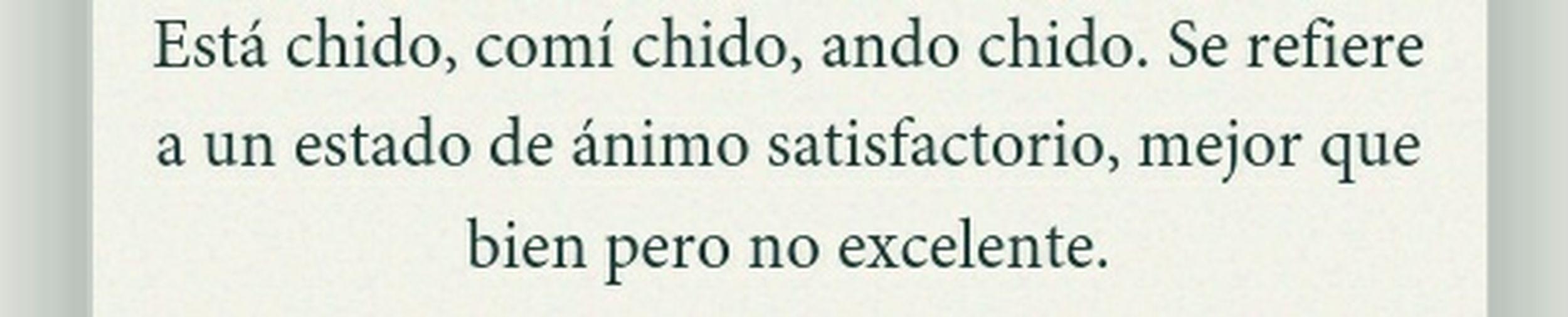 Chido #cool #bien #chingon #like #buenisimo #pocamadre