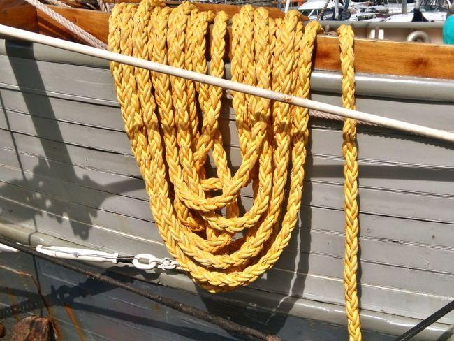 Close-up Mooring Ropes Mooring Line Close-up Boat Nautical Vessel Rope Sailing Boat Sailing