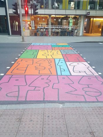 cross road art Cross Road Crossing Road Art Street Day Multi Colored Outdoors No People