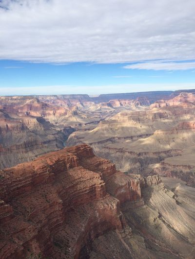 Scenic View Of Mountains And Valley At Grand Canyon