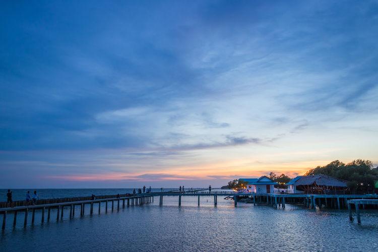 Sky Blue Sea Nature Cloud - Sky Evening Light Sunset Waterfront Outdoors Water