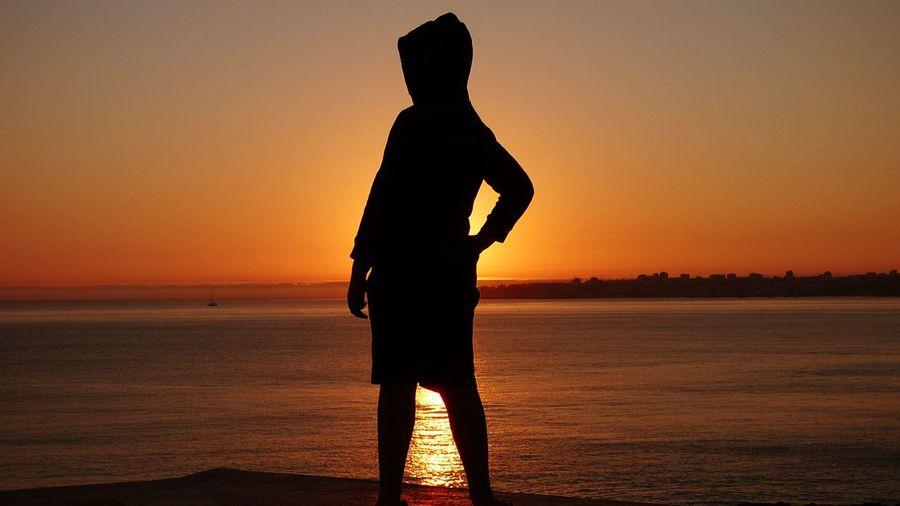 Capture The Moment The moment my son look back... Eye4photography  EyeEm Sunset Silhuettes Sunset Silhouettes I Love My Son Sunset_collection Sunsets EyeEmBestPics EyeEm Best Shots Be. Ready. Boy At Sunset Golden Hour Sunset Silhouette Silhouette_collection Silhouettes Of People