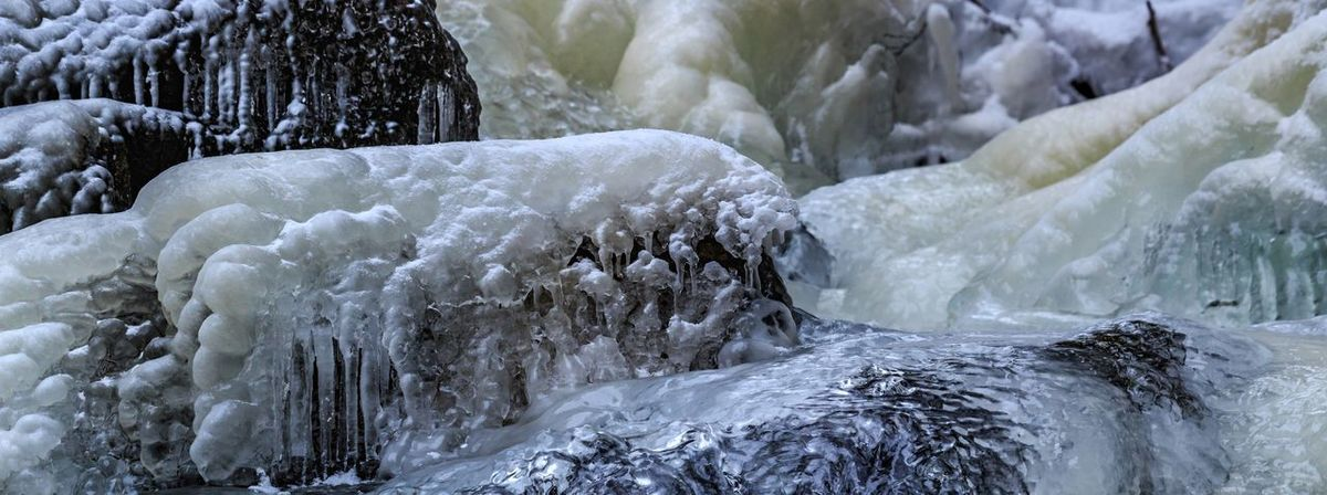 Beauty In Nature Close-up Cold Temperature Day Frozen Glacial Glacier Ice Icicles Motion Nature No People Outdoors Purity Scenics Snow Tranquil Scene Outdoors Tranquility Water Waterfall Winter
