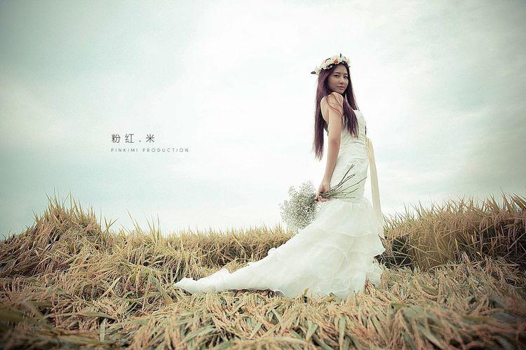 Portrait Color Portrait Beauty Weddinggown
