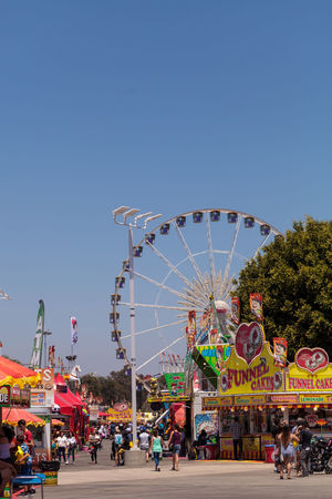 Ferris wheel at the Orange County Fair in Costa Mesa, CA on July 16, 2016. Amusement Parks Amusement Ride Celebration Entertain Entertainment Fairground Ferris Wheel Festival Fun OC Fair Orange County Fair Outdoors Ride Sky