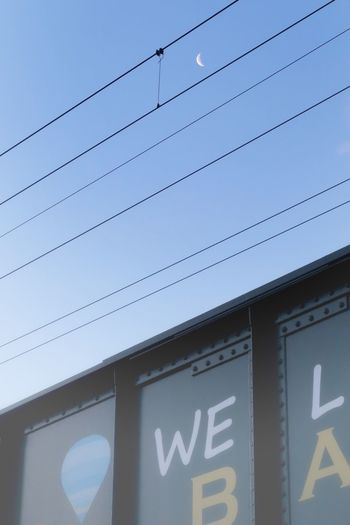 朝 サイクリング 月 三日月 線路 鉄橋 青空 いま空 Morning Morning Sky Morning Moon Crecent Moon Railroad Track Steelbridge Sky Bicycle Blue Sky EyeEm Best Shots Beauty In Nature EyeEm Nature Lover イマソラ Moon Building Exterior Low Angle View 空