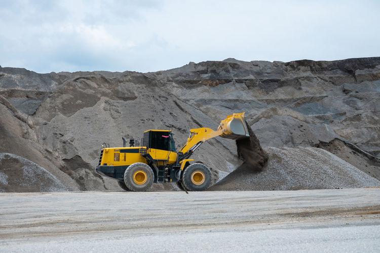 Bulldozer working at mine