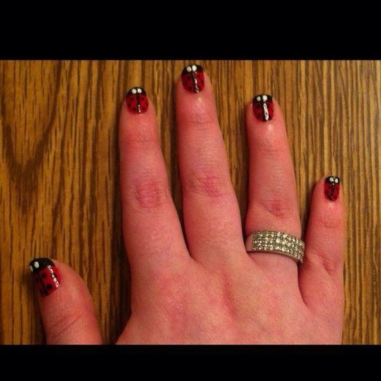 Ladybugs Nails Nail Polish Nail Art Nail Fanatic