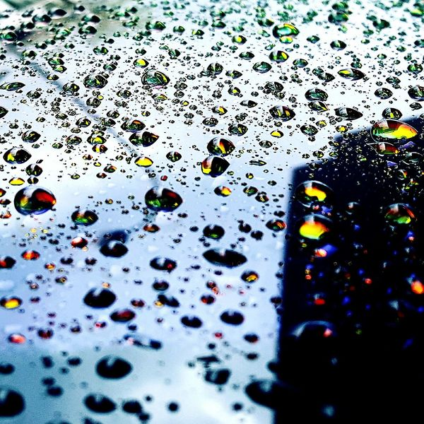 Pluviophile RainDrop Rainbow Colors Loverains CrystallineDay Wetpavements Beauty In Nature