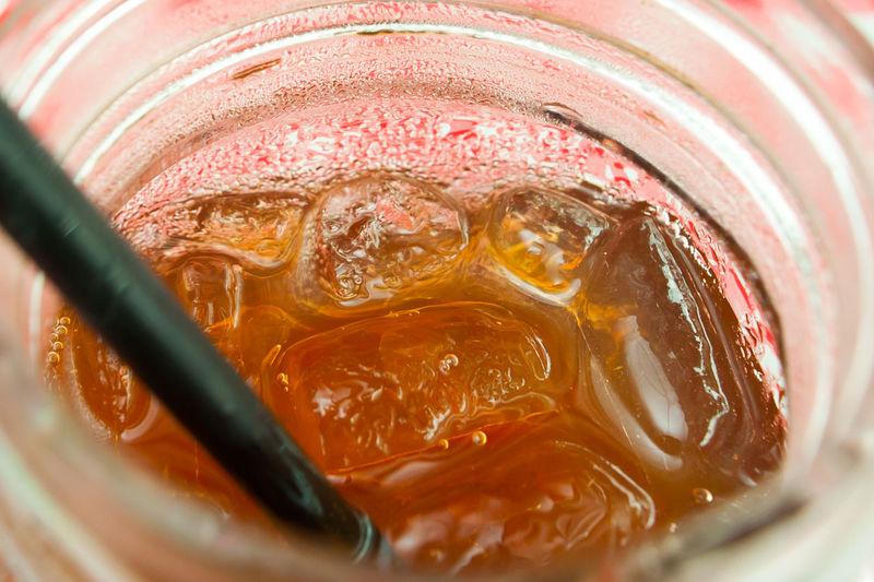 close view of Honey ice lemon tea Honey Ice Lemon Tea Close Up Food And Drink Drinking Glass Cool Drink Summer Sunny Drinking Straw