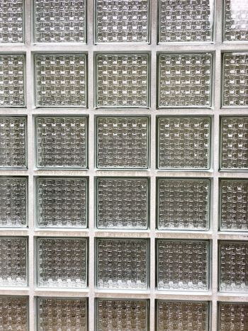 Wall of white glass building blocks Backgrounds Close-up Day Four Side Full Frame Glass - Material Glass Block Wall Glass Blocks Glass Building Block Glass Building Wall Houses And Windows Indoors  Light No People Pattern Piece Quadrangular Repetition Seamless Pattern Stone - Object Textured  Wall Window