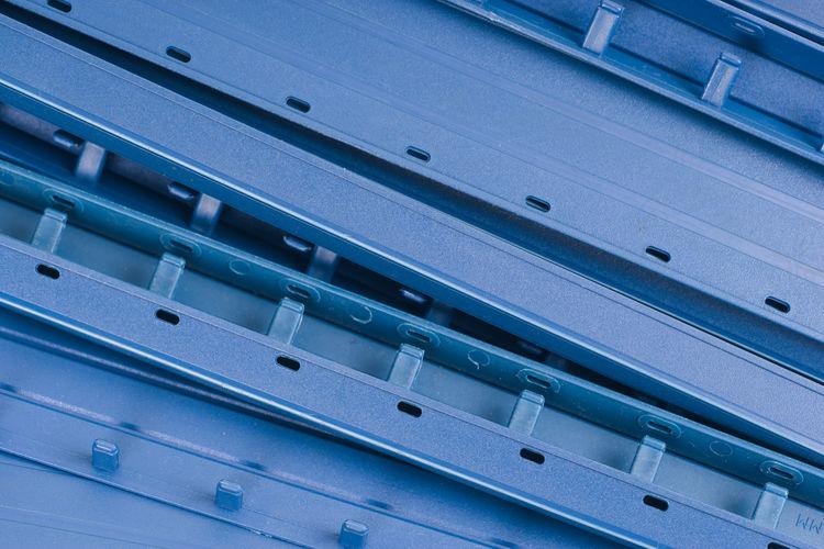 Full frame shot of metallic machinery