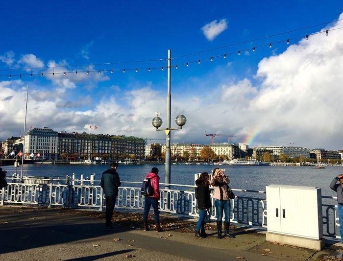 Geneva 🇨🇭 Switzerland Lake View Cloud And Sky Blue Sky Landscape_photography Landscape Traveling Photography Traveling