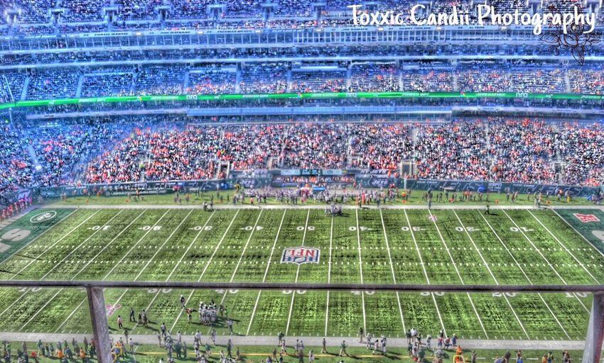 Denver Broncos New York Jets Cartoonized NFL Football
