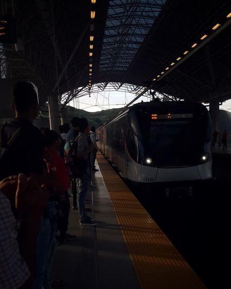 Transportation Railroad Station Travel Railroad Station Platform Indoors  Illuminated Passenger Men People Only Men Public Transportation Night Adults Only Adult One Person