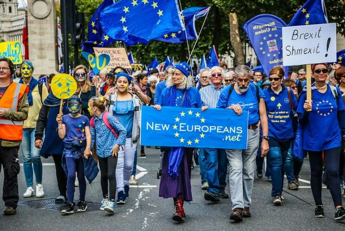 Celebration Adult Blue Men People Togetherness Arts Culture And Entertainment Crowd Day Protestor Women Outdoors Large Group Of People Placard Real People Musical Instrument Adults Only London Lifestyle Brexit Protest EyeEm Best Shots The Week On EyeEm European Union People's March For Eu London Streets Streetphotography