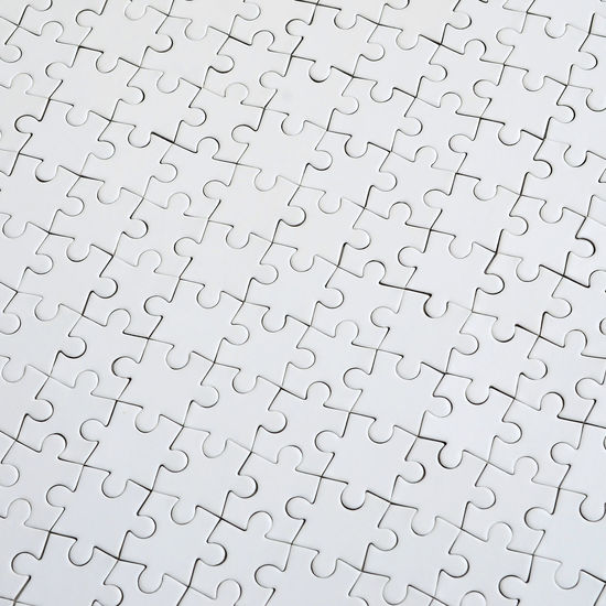 Pattern Full Frame Puzzle  Backgrounds Large Group Of Objects Jigsaw Piece Indoors  Jigsaw Puzzle No People Solution Studio Shot Close-up High Angle View Incomplete Leisure Games Abundance White Color Paper Textured  Still Life Blank
