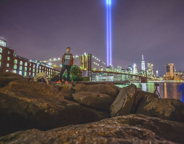 Tributeinlights WTC New York City Brooklyn Bridge  9-11 Memorial
