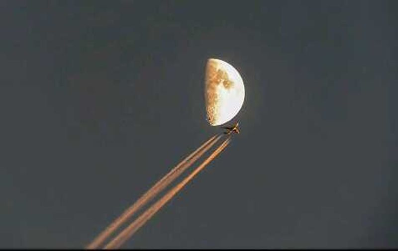 Moon Airplane Sky Collection Check This Out !!!