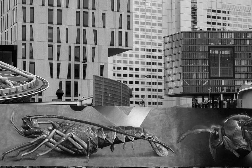 Archineos Architecture Architettura B&n B&w Bianco E Nero Black And White Buildings Closed Skyline Façade Holland Kolk Markthal Monochrome Rotterdam Rotterdam Blaak Street Art Ugo Villani Urban Urban Geometry Urban Landscape