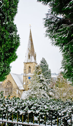 Church Place Of Worship Snow