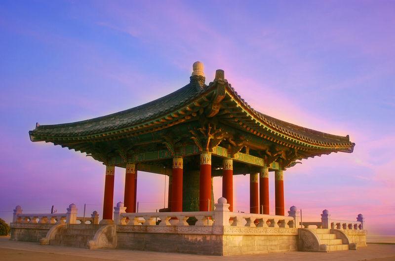 Korean Friendship Bell Against Sky