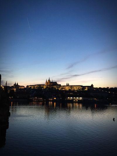 Prague Prague Castle Castle Sunset Sunset Of Prague Castle Iphonephotography By Iphone 6+