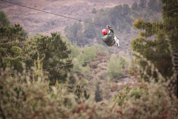 ZIP WIRE IN THE MOUNTAIN Adventure Beauty In Nature Cable Extreme LINE Mountain Nature Non-urban Scene Outdoors Overhead Cable Car Power Line  Sport Steel Cable Tourism Transportation Zip Line Zip Wire Zipwire