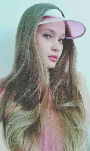 Self Potrait Portrait Girl Pink