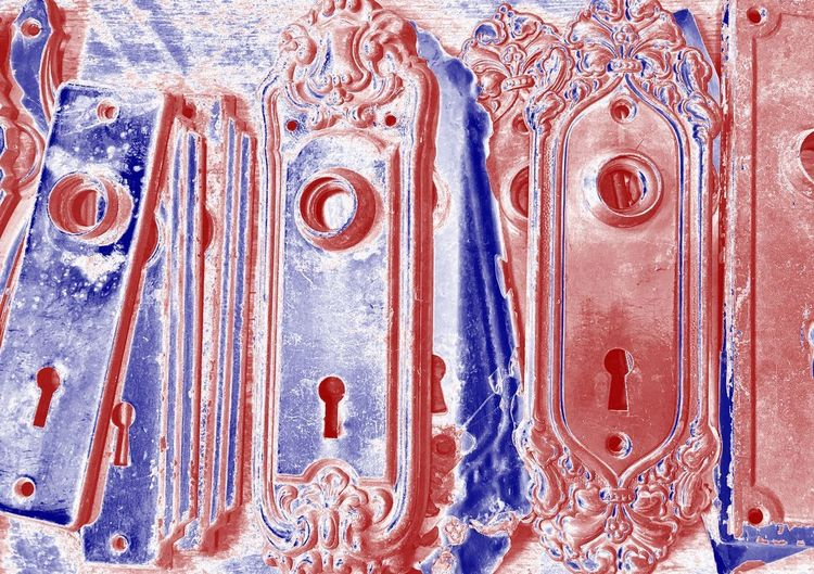 Abstract Photography Blues Red Blue Abstract Abstractart Backgrounds Blue Blue And Red Close-up Color Blue Color Red Door Hardware Hardware Indoors  No People Old Hardware Red And Blue Reds