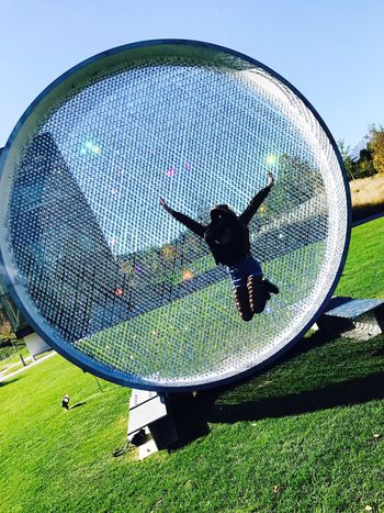 My life ❤️ Circle Grass Childhood Leisure Activity Playing Boys Day Park - Man Made Space Clear Sky Fun Real People Green Color Full Length Outdoors Fish-eye Lens One Person Nature Sky People MyLifeMyWorldMyEverything Swarovski Insbruck Moments Mytravel EyeEm Nature Lover