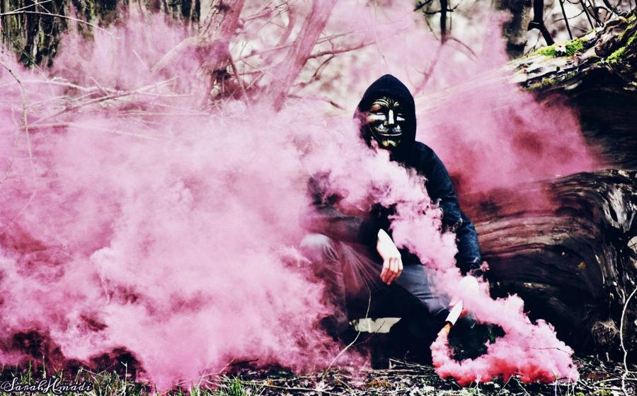 Me Smoke♥ Pink Color Pink Smoke Masks Artist THX Sarah Hamadi