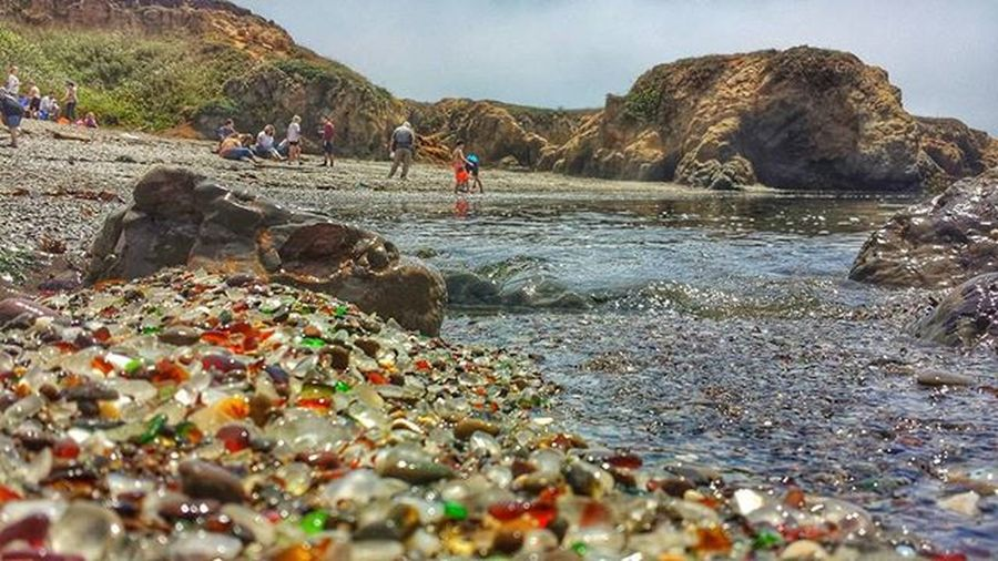 Its unfortunate that this beautiful beach is one day going to dissappear. People taking all the colored glass. Go now before they are all gone. Gopro Goprooftheday Goprophotography_ Traveldeeper Roadtrippers Discovertheroad TeamTravelers Wanderlust Outdoors Nature Theoutbound Goprounited Ocean Beautiful Love California 1x5 Travel Ocean Glass IGDaily Igers Wildcalifornia Rawcalifornia Showcase April