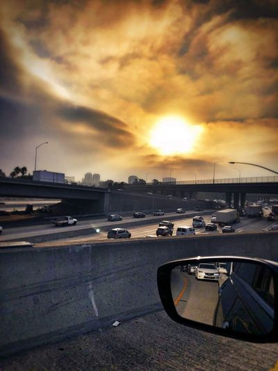 Sunrise Traffic Sky Water Cloud - Sky Transportation Sunset Mode Of Transportation Nature City Motor Vehicle