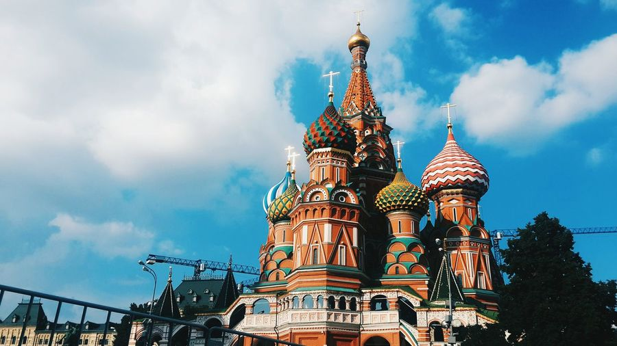 Low angle view of saint basil's cathedral