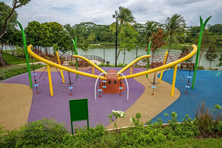 The Butterfly Playground 4 @ Marsiling Park, previously known as Woodlands Town Garden. This was a bit challenging to take a nice photo of when I went by in June 2018. Oh. Nearby there is an actual butterfly garden too! Public Playground Public Park Butterfly Day Multi Colored No People Outdoor Play Equipment Outdoors Park Playground