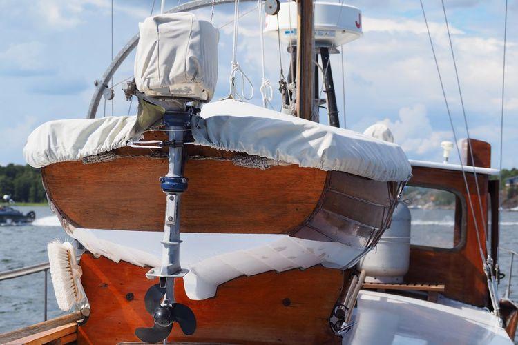 Boat on trawler at sea