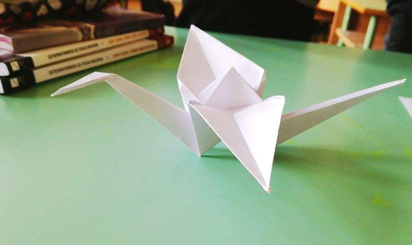 Origami Bird Paper Schooldays Creative Art Time Boring Hours Friend Gift