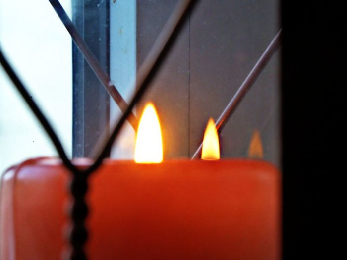 schönen 3.Advent🙋‍♀️ Flames & Fire Eye4photography  For My Friends Simple Beauty 😍😌😊 Decoration One Flame Reflecting🤗 Reflection In A Window No People Red Day Indoors  Metal Industry