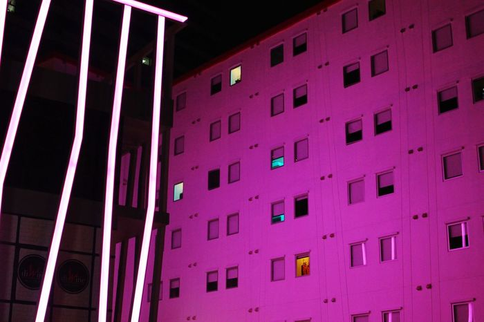 Window Low Angle View Architecture Pink Color Built Structure Photograph Night No People Building Exterior Indoors  No Filter, No Edit, Just Photography No Filter No Filters Or Effects Architecture Architecture_collection Architecturephotography Architecturelovers Wall - Building Feature Light And Shadow Neon Lights Neonlights Neon Pink Neon Colored Neon Light Lights