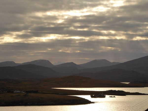Sunset #sun #clouds #skylovers #sky #nature #beautifulinnature #naturalbeauty #photography #landscape Scotland Isle Of Harris Scenes Isle Of Harris Isle Of Lewis Mountain Beauty In Nature Sky Nature Landscape Scenics Mountain Range Water Outdoors No People Day