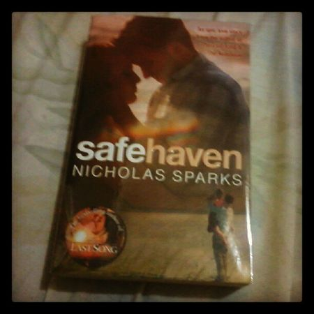 will read this tonight. 10 more books to go. :)) Safehaven Nicholassparks Epic