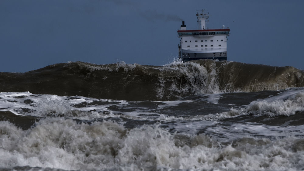Cargo vessel in rough conditions. Baltic Sea Fujifilm X-H1 Beauty In Nature Breakers Breaking Cargo Boat Cargo Vessel Force Freighter Hitting Motion Nature No People Ocean Outdoors Power In Nature RISK Sea Storm Surge Travemünde Water Wave