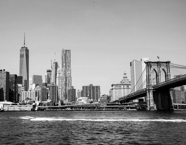 New York City skyline. NYC New York City Skyline Travelblogger Earth Trek Showcase: March Black And White Blackandwhite B&w Street Photography Battle Of The Cities