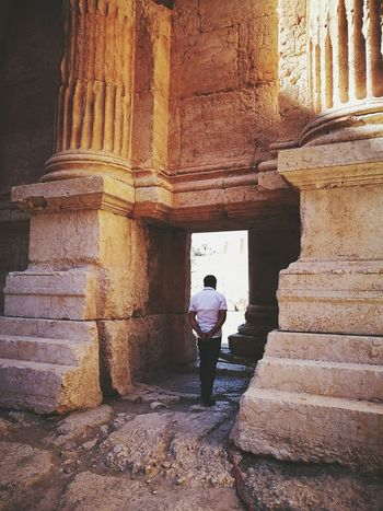 Architecture Built Structure Full Length Casual Clothing Steps History Muslim The Past Old Ruin Ruins Baalbek Middle East Lebanon Ancient