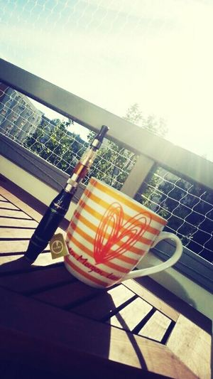 Enjoying The Sun , its Teatime and a Goodmorning with my Electronic Cigggggarrrette