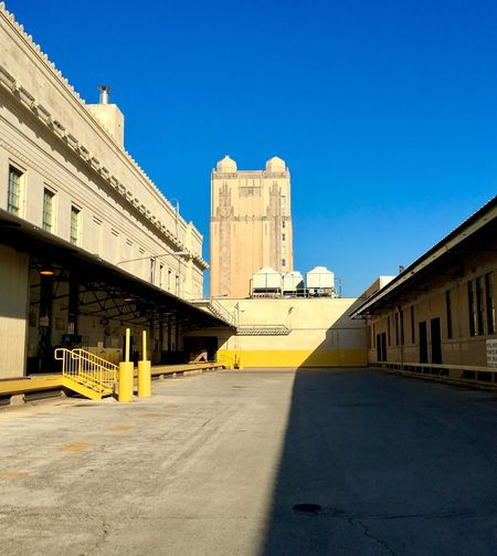 Built Structure Architecture Building Exterior Clear Sky Sunlight Blue Day Outdoors No People Shadow Sky City Yellow Dock Fort Worth T&P Post Office EyeEm Best Shots EyeEmNewHere EyeEmBestPics EyeEm Selects