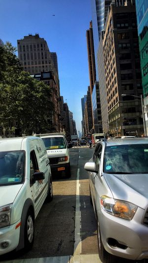 I was just trying to get to Bryant Park NYC but crossing these roads are a bit Tricky !!! The Graphic City
