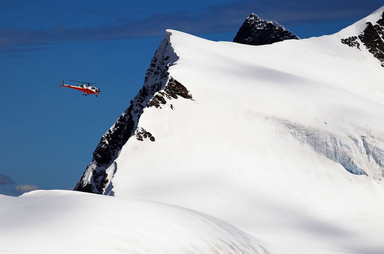 Alpine Day Helicopter Mountain Rescue No People Outdoors Rescue Helicopter Sky Swiss Transportation