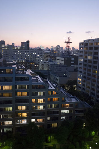 Clear Sky Japan Japanese  Tokyo Toyocho Apartment Architecture Building Building Exterior City City Life Cityscape Dawn Dusk High Angle View Metropolis Office Building Exterior Residential District Sky Skyscraper Sunrise Sunset Tokyoite
